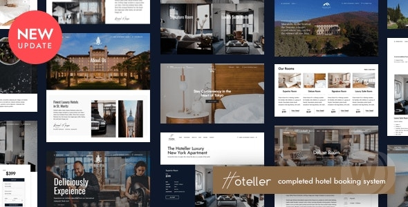 Hoteller v5. 3 NULLED-template for hotels and resorts WP