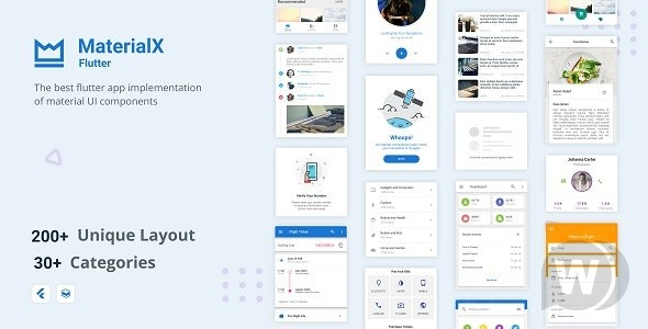 MaterialX Flutter v2. 1. 1-Flutter Material Design User Interface Components