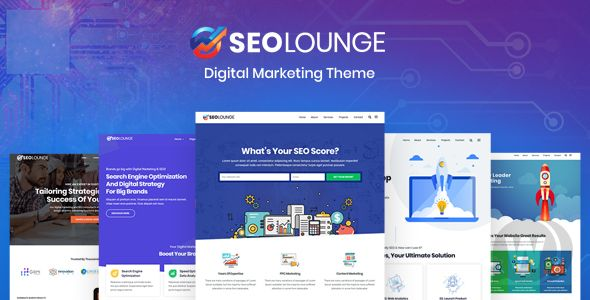 SEOLounge v3. 0. 2 NULLED-template for WordPress SEO agencies
