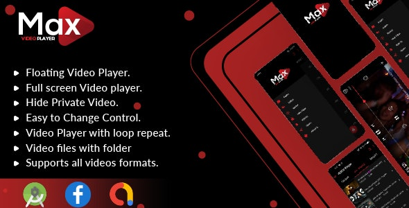 MAX Video Player v1.0 – Android Video Player With AdMob – All Format Video Player(Android 11 Supported)