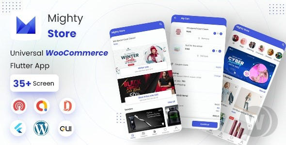 MightyStore Dokan Multi Vendor v5.0 – Flutter E-commerce Full App