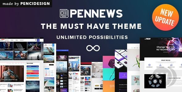 PenNews v6.6. 1 NULLED-Universal WordPress Template