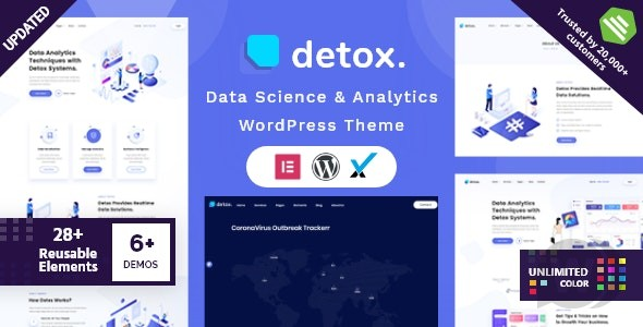 Detox v1. 7 NULLED-WordPress theme for data analysis and analytics