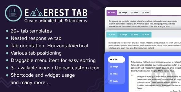 Everest Tab v1.1.8 – Responsive Tab Plugin For WordPress