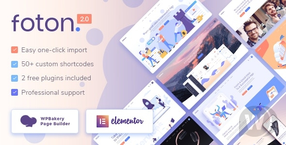 Foton v2. 2 NULLED-Landing page template for WordPress software and applications