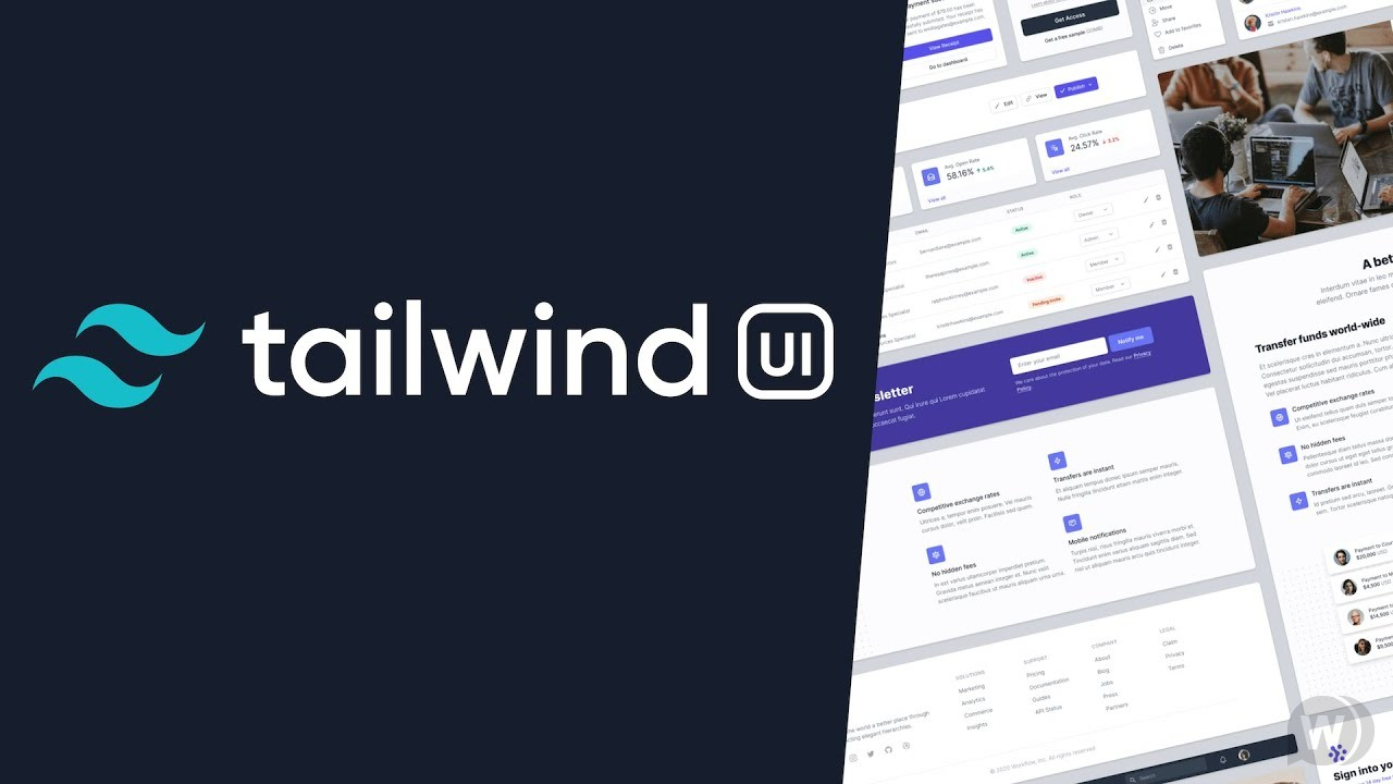 Tailwind 2.0 UI Components