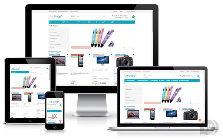 Unishop2 v2. 0. 0. 0 NULLED-universal template for OpenCart 3