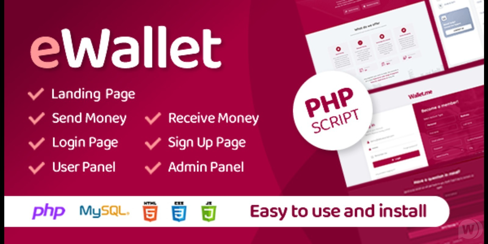 eWallet v3. 0-script for an electronic wallet or payment gateway