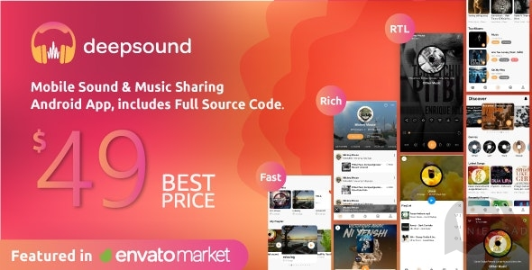 DeepSound Android v2. 0-Android music sharing apps