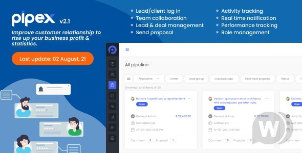 PipeX CRM v2.1 NULLED