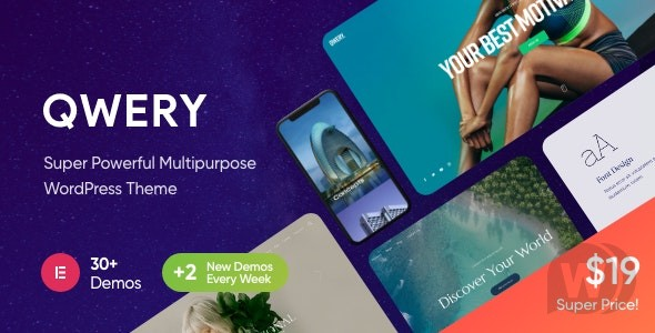 Qwery v1.1.4 NULLED – Multi-Purpose Business WordPress Theme + RTL