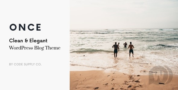Once v1. 1. 9 NULLED is a clean and elegant WordPress blog theme