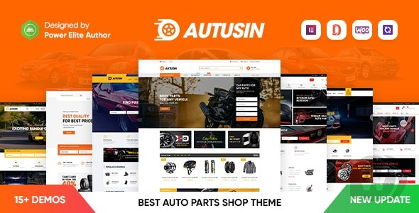 Autusin v2.2.1 NULLED – store of auto parts and automotive Accessory Elementor WooCommerce WordPress
