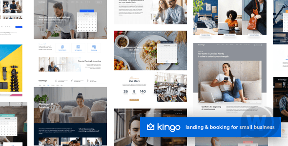 Kingo v2.4.1 NULLED – Small Business Booking Template WordPress